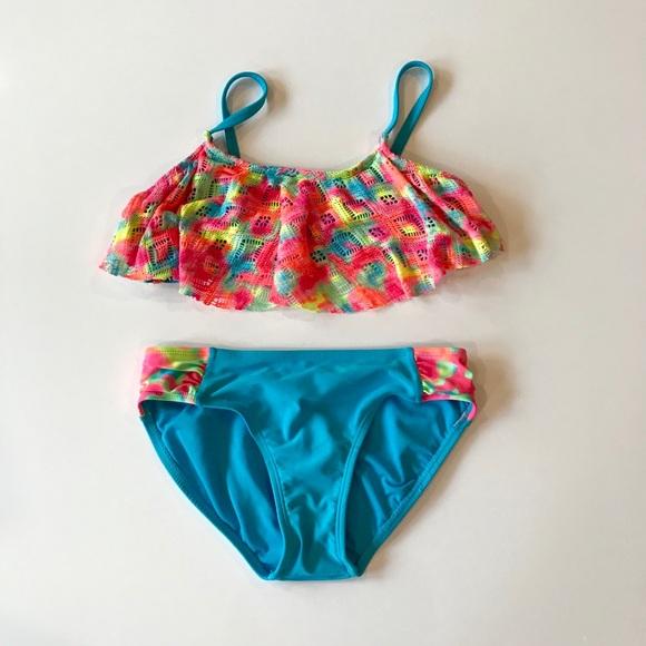 c7bb91b2224 Xhilaration Swim | Kids Tie Dye Bathing Suit | Poshmark